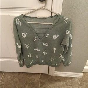 Cactus print sweatshirt